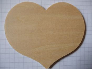 Birch Ply Wooden Country Heart Wood Craft Shape